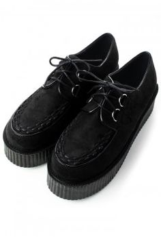 Creeper Platforms Shoes in Black - Retro, Indie and Unique Fashion
