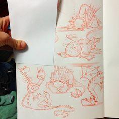 Doodling baby dragons in Faragons art stream!