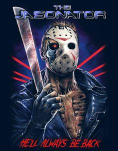 """brokehorrorfan: """"Cavity Colors has released a new Jason Voorhees / The Terminator mash-up shirt in honor of Friday the Designed by Coki Greenway and Aaron Crawford, the tee is limited to 400 and. Jason Voorhees, Slasher Movies, Horror Movie Characters, Horror Movies, Horror Villains, Arte Horror, Horror Art, Science Fiction, Funny Horror"""