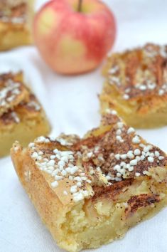 Apple Recipes, Raw Food Recipes, Baking Recipes, Cake Recipes, Danish Dessert, Fall Baking, Cookie Desserts, Confectionery, Dessert Bars