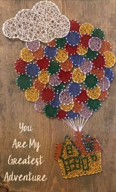 Disney String Art, Nail String Art, String Crafts, String Art Tutorials, String Art Patterns, Disney Diy Crafts, Adult Crafts, Auction Projects, Art Projects