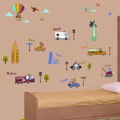 Art Applique New York Kids Wall Decals - Wall Sticker Outlet