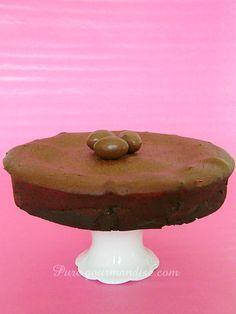 Fondant au chocolat et aux Kinder Schoko Bons - www.Puregourmandise.com