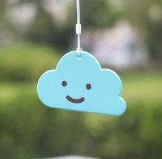This is on sale and it is so you can identify your luggage and plus it's so cute who wouldn't want a little cloud with a smile