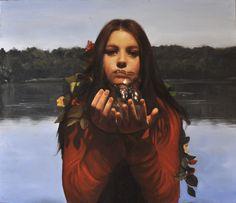 """Andrea Esposito, """"Alla fonte"""", olio su tela, 70x80cm, 2013"""