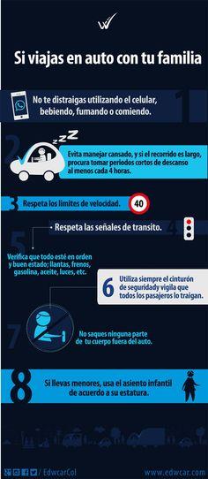 Consejos para viajes seguros en automóvil o carro.