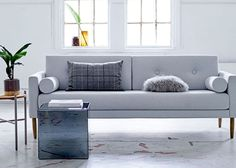 Sofa Calm Szara Bloomingville