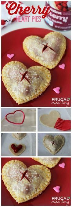 Valentine's Day Mini Heart Cherry Pies on Frugal Coupon … Valentines Dessert. Valentine's Day Mini Heart Cherry Pies on Frugal Coupon Living. Valentine Desserts, Valentines Day Food, Valentine Treats, Holiday Treats, Holiday Recipes, Diy Valentine, Valentines Recipes, Valentines Baking, Valentine Cooking With Kids