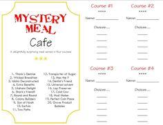 mystery dinner menus | Make a Memory {Mystery Dinner}