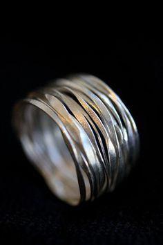 cool Handmade Hammered Silver Wire 98 silver by Storiesofsilversilk...