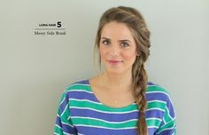 If you've hit snooze a few too many times in the morning, try this twisted, messy side braid. It's a no-fail way to achieve a cute hairstyle in less than five minutes. Julia of Gal Meets Glam shows you how here.