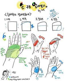 pixiv Spotlight - 10 tutorials about hands! Drawing Skills, Drawing Lessons, Drawing Techniques, Drawing Tips, Drawing Practice, Drawing Hands, Tutorial Draw, Hands Tutorial, Anatomy Tutorial