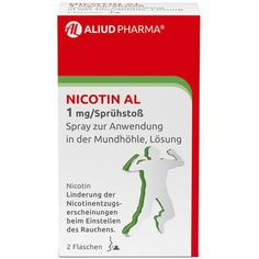 NICOTINE (NICOTIN) AL 1 mg / spray for application in mouth 2 pc UK Nicotine Withdrawal, Withdrawal Symptoms, Increase Appetite, Urticaria, Smoking Cessation, Relapse, Spray Can, Chewing Gum