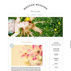 ModernPhotography Wordpress Blog and Gallery Template With Slideshow