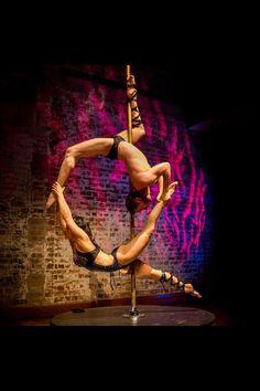 Mamilla Deville and David Helman #couples #pole #trick #fitness #dance
