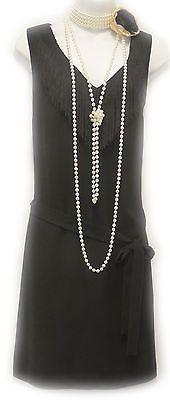 New vintage 1920 Noir gatsby downton abbey déco tambour Charleston robe Look Gatsby, Gatsby Girl, Gatsby Dress, Gatsby Style, 1920s Dress, Great Gatsby Fashion, 20s Fashion, Retro Fashion, Vintage Fashion