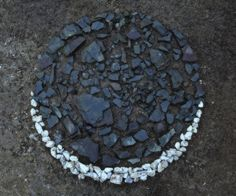 "Stepping stones in the phases of the moon! Leading towards my little ""secret garden"" moon garden with an outdoor bathtub in it... summer nighttime baths, surrounded by night-blooming flowers beneath the light of the full moon <3"