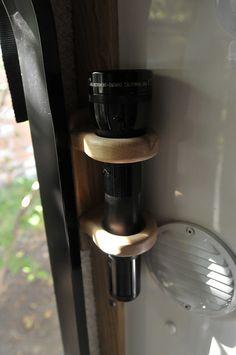 Flashlight holder | Flashlight holder beside the entry door.… | Flickr
