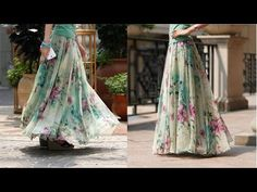 Umbrella cut skirt with full gathers DIY | drafting, cutting and stitching step by step tutorial - YouTube