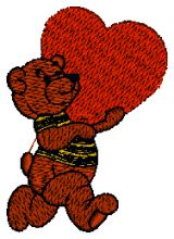 A Bear's Heart Embroidery design - Machine Embroidery Designs