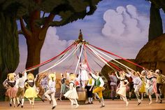 La Fille mal gardée (The Royal Ballet, April 2012) | Marianela Nuñez as Lise with Artists of The Royal Ballet in The Royal Ballet production of La Fille mal gardée (1960), choreography by Frederick Ashton (1904-1988), to music by Ferdinand Hèrold (1791-1833) arranged by John Lanchbery (1923-2003). Set and costume designs by Osbert Lancaster (1908-1986;  Lighting design by John B. Read. Performed at the Royal Opera House, Covent Garden on 20 April 2012. Photograph ...