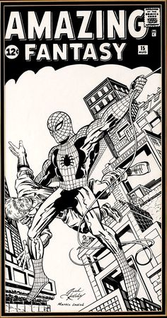 Amazing Fantasy #015 Cover Recreation (c.1970s) by Jack Kirby And Martin Lasick via Bendis' Twitter