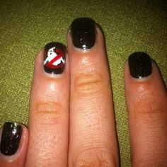 Day 29: inspired by the supernatural. I only did one nail because I was not crazy about this challenge, but it looks awesome :) #nails #nailart #nailchallenge by okadots, via Flickr