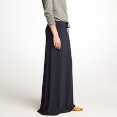 indigo maxi skirt #jcrew