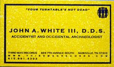 Jack White business card by dwhartwig, via Flickr