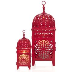 Casablanca Lanterns - Fuchsia (33 BRL) ❤ liked on Polyvore featuring home, home decor, candles & candleholders, decor, lanterns, filler, fuschia home decor, metal lanterns, handmade home decor and metal home decor