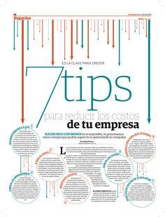 7 consejos para reducir los costes de tu empresa #infografia  Ideas Desarrollo Personal para www.masymejor.com