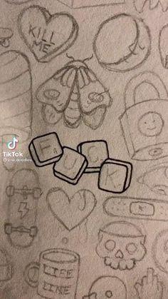 Indie Drawings, Dark Art Drawings, Art Drawings Sketches Simple, Pencil Art Drawings, Doodle Drawings, Cute Drawings, Random Drawings, Dark Art Illustrations, Music Drawings