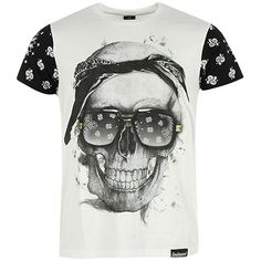 Tee Shirt Monsterpiece Bandana Blanc - LaBoutiqueOfficielle.com