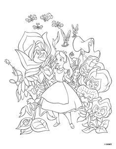 [스크랩] 이상한 나라의 앨리스 색칠공부 | 스크랩함 | Daum 메일