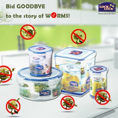 Use Lock & Lock India containers and bid Goodbye to the story of Worms this rainy season!