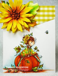 Spotlight On: Tiny Townie Patricia loves Pumpkins & Willow the Witch Pumpkin Photos, Little Falls, Paint Cards, Fall Cards, Card Sketches, Copics, Copic Markers, Halloween Cards, Creative Cards
