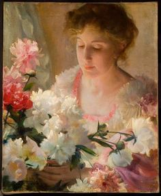 The Athenaeum - Peonies (Charles Courtney Curran - No dates listed)
