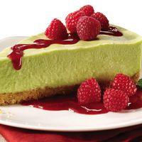 avocado cheesecake with walnut crust by Joy Kelley