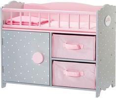 Teamson Kids Olivia's Little World Polka Dots Princess Baby Doll Crib