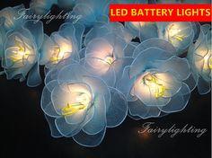 Blue Flower Fairy String Lights For Bedroom Indoor By Narongsak | Flower  String Fairy Lights | Pinterest | Flower Fairies, Blue Flowers And Indoor  String ...