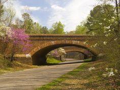 Cobblestone Brick Bridge Overpass Along the Colonial Parkway - NHS - York County, Virginia