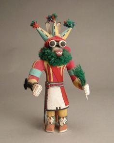 Hopi Three-Horn Kachina, c.1960-80