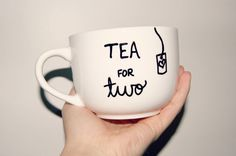 Tea for Two Mug/Fully Customizable/Pregnancy by EnleeCreations