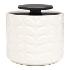 Discover the Orla Kiely Raised Stem Storage Jar - Charcoal at Amara
