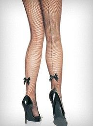 Every woman needs a nice pair of fishnets...the bows are a bonus and the heels don't hurt.  :-))