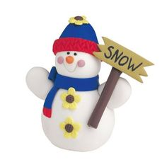 Claydough Snowman Cake Decoration *** You can get more details at - baking decorations