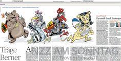 Träge Berner - Illustration NZZ am Sonntag by Ian David Marsden, via Flickr