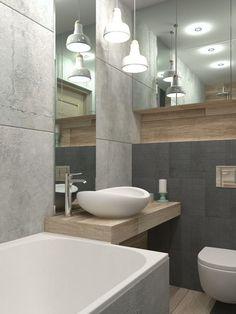 petite salle de bain scandinave avec baignoire éléments en bois