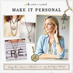 Make it personal: shop the Trésors collection on my boutique today!