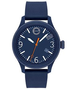 ESQ Movado Watch, Unisex Swiss ESQ One Navy Silicone Strap 43mm 07301440 - Watches - Jewelry & Watches - Macy's